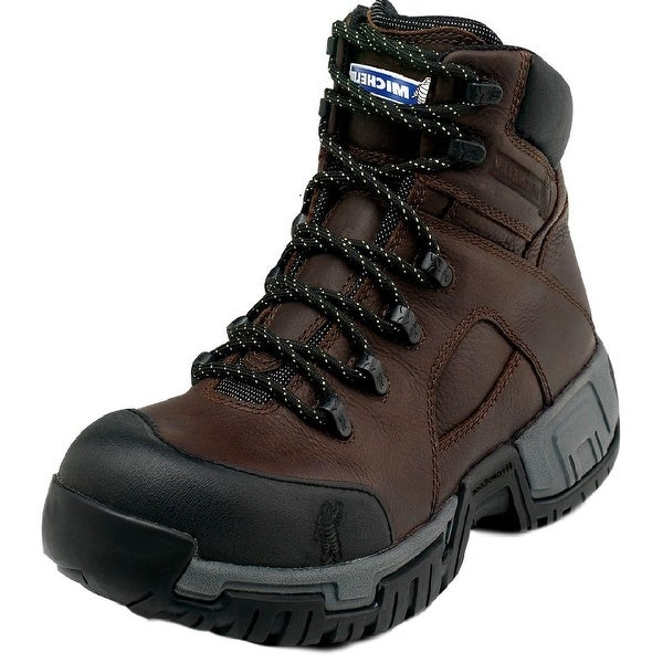 Michelin Work Boots Mens Steel Toe Waterproof Lace Up Brown
