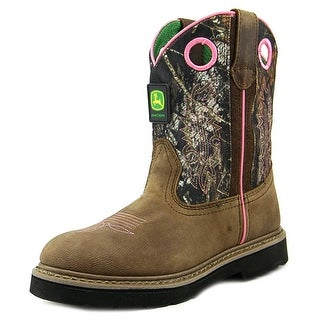 John Deere You Round Toe Leather Western Boot