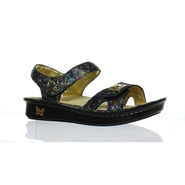 441b37ee2fb Shop Alegria Womens Vienna Shine on Ankle Strap Flats EUR 35 - Free ...