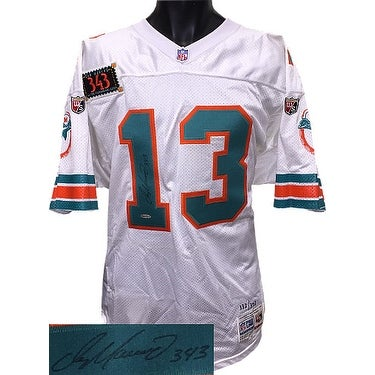 huge discount d1dac b1fbc Dan Marino signed Miami Dolphins Wilson White TB NFL Authentic On Field  Jersey w 343 Patch 332 Uppe