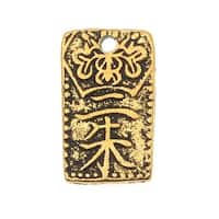 TierraCast 22K Gold Plated Pewter 'Nisshu' Charm 13mm x 9mm (1)