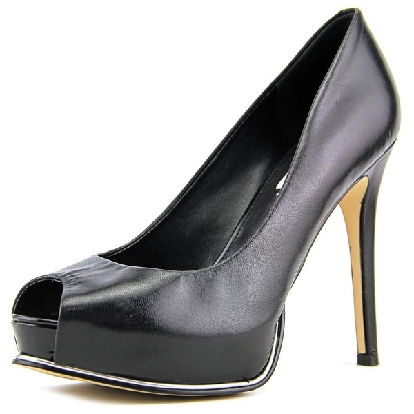 Guess Honora 2 Women Open Toe Leather Black Platform Heel