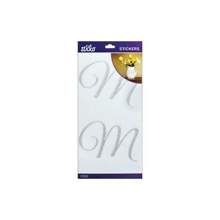 EK Sticko Sticker Elegant Silver Foil Monogram M