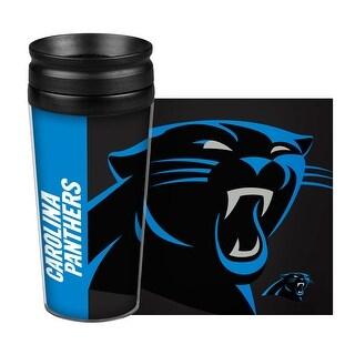 Carolina Panthers Travel Mug 14oz Full Wrap Style Hype Design