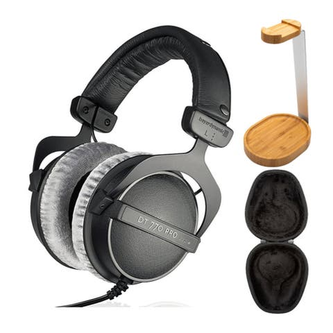 Beyerdynamic DT 770 PRO Headphones (250Ohm) with Case and Stand Bundle