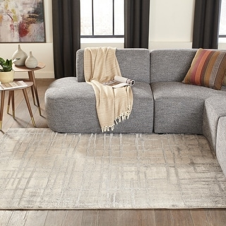 "Momeni Matrix Polyester and Polypropylene Machine Made Grey Area Rug - 9'10"" x 12'10"""