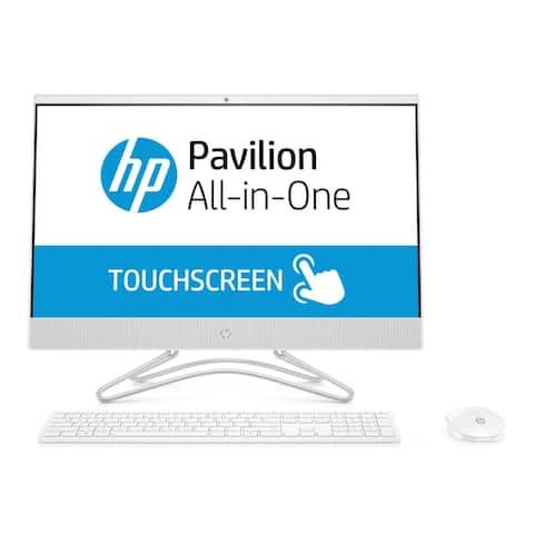 "HP 24-F Intel i5-8250 23.8"" FHD Touch 12GB 1TB HDD AIO PC (Renewed) - White"