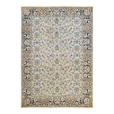 """Mogul, One-of-a-Kind Hand-Knotted Area Rug - Yellow, 6' 3"""" x 8' 9"""" - 6'3"""" x 8'9"""""""