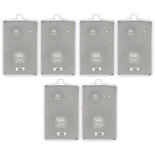 Acoustic Audio 251W Indoor Outdoor 3 Way Speakers 1200 Watt White 3 Pair Pack 251W-3Pr