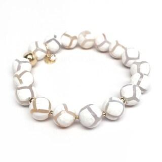 "White Agate Sophia 7"" Bracelet"