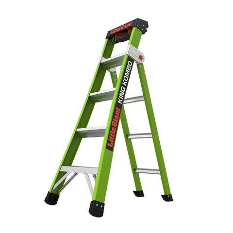 Little Giant King Kombo Professional 5'-8' Fiberglass 3-in-1 Ladder