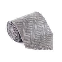 Tom Ford Mens Tonal Grey Wool Micro Square 4 Inch Wide Neck Tie - One size