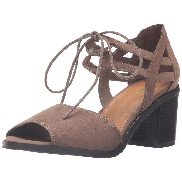 MIA Womens Luella Open Toe Casual Espadrille Sandals Taupe Size 80