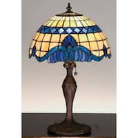 Meyda Tiffany 31201 Stained Glass / Tiffany Accent Table Lamp from the Baroque & Gypsy Collection - tiffany glass - n/a