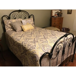 Madison Park Noelle Yellow Quilted 6-piece Coverlet Set