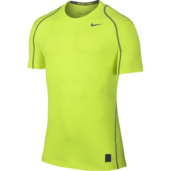 481d460095ef Nike NEW Volt Yellow Mens Size Large L Fitted Dri Fit Shirts  amp  ...