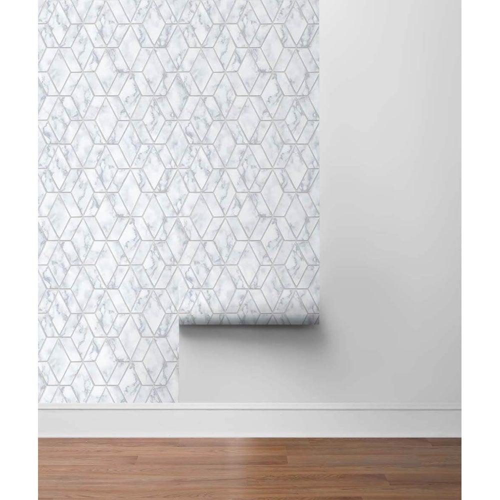 Sonoma%2C Marble Tile 18%27 x 20.5%22 Peel %26 Stick Wallpaper Roll