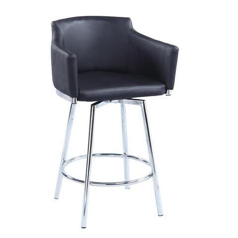 Somette Dahlia Club Counter Stool with Memory Swivel - Counter Height - Counter Height