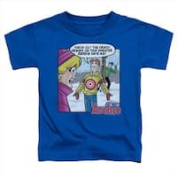 Archie Comics-Crazy Sweater - Short Sleeve Toddler Tee, Royal -