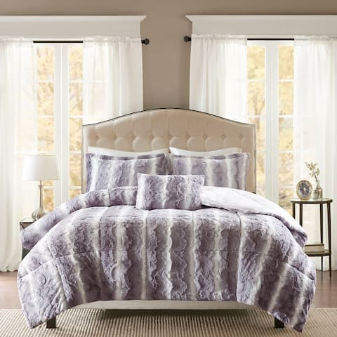 Madison Park Marselle Faux Fur Comforter Set