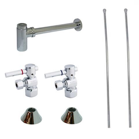 Kingston Brass CC4310DLLKB30 Trimscape Sink Plumbing Trim Kit with