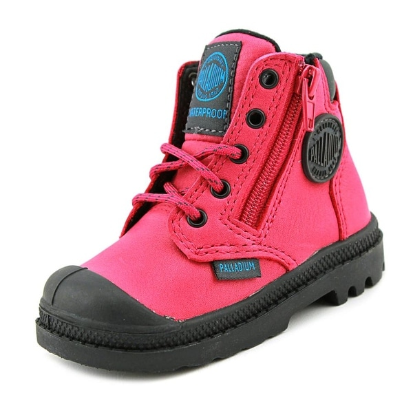 Palladium Pampa Hi Cuff WP Infant Round Toe Canvas Pink Boot