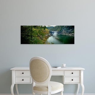 Easy Art Prints Panoramic Image 'Waterfall in forest, Cumberland Falls, Cumberland Falls Park, Kentucky' Canvas Art
