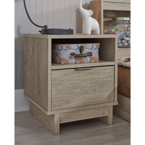 Oilah Natural Brown One Drawer Nighstand