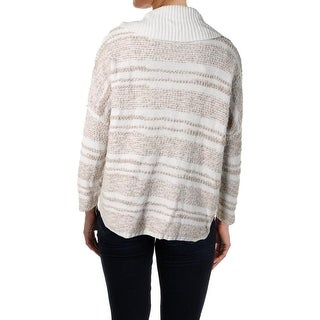 Calvin Klein Womens Printed Cowl Neck Pullover Sweater