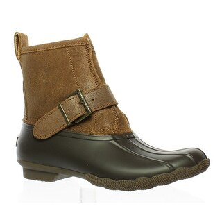 Sperry Top Sider Womens Rip Water Brown/Tan Rainboots Size 6