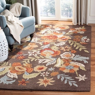 Safavieh Handmade Blossom Delle Modern Floral Wool Rug