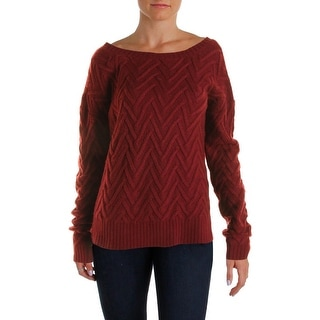 Three Dots Womens Pullover Sweater Knit Boatneck