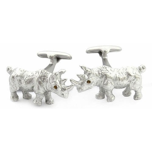 Rhinoceros Cufflinks Animal