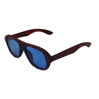 Specs of Wood Eyewear The Blue Sky Blue/Red Polarized Blue & Clear Sunglasses