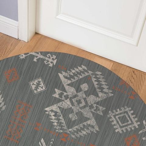 SABINA CHARCOAL Indoor Floor Mat By Kavka Designs