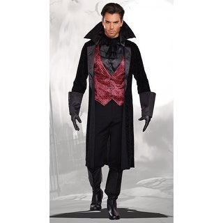Plus Size Men's Bloody Handsome Vampire Costume, Plus Size Men's Vampire Costume - as shown - 2x