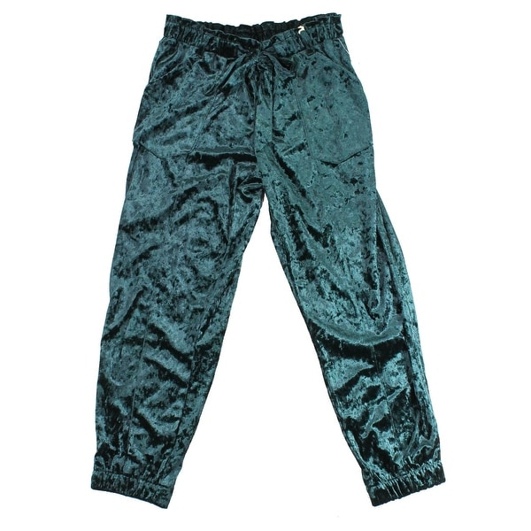 7c441feee5d64 Shop Jolt Green Bottle Size Medium M Junior Velour Belted Jogger Pants -  Free Shipping On Orders Over $45 - Overstock - 22089900
