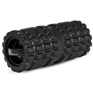 "ProSource ExL Vibrating Foam Roller 13""x6"" 3-Speed High Density , Deep Tissue Triggerpoint Massage - Black - 13 x 6"