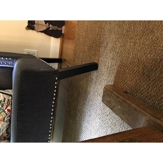 Shop Owstynn Gray Linen Modern Banquette Bench Free
