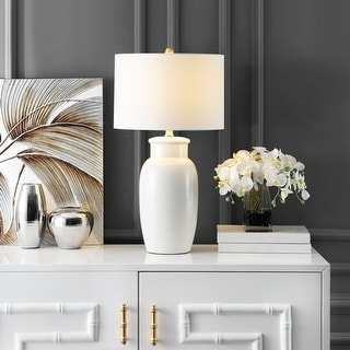 """Link to Safavieh Lighting Norsi 27-inch Ivory Ceramic LED Table Lamp - 15"""" W x 15"""" L x 27.5"""" H Similar Items in Table Lamps"""