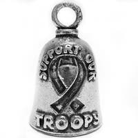 Guardian Bell Pewter Keychain - Support Our Troops