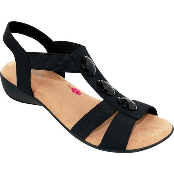ed15afed3 Shop Ros Hommerson Women's Mackenzie Slingback Sandal Black Stretch - Free  Shipping Today - Overstock - 19426977