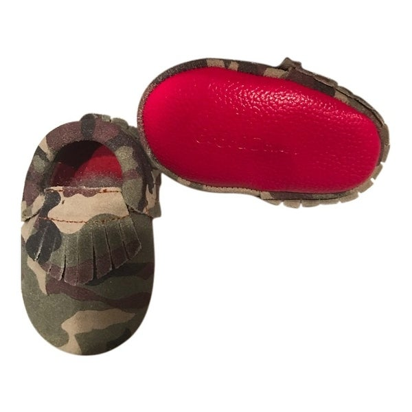 55bca884df8ba Shop Baby Girls Camo Red Soft Sole Suede Exotic Moccasin Crib Shoes 3-18M -  6-12 Months - Free Shipping On Orders Over $45 - Overstock - 28294759