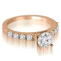 0.90 cttw. 14K Rose Gold Round Cut Diamond Engagement Ring