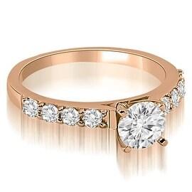 1.15 cttw. 14K Rose Gold Round Cut Diamond Engagement Ring