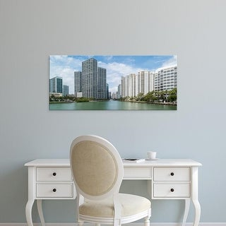 Easy Art Prints Panoramic Images's 'Skyscrapers at the waterfront, Brickell Key, Brickell, Miami, Florida' Canvas Art