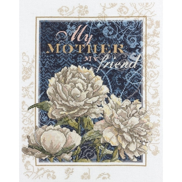 Bucilla Sentiments Counted Cross Stitch Kit, 11-Inch by 14-Inch, My Mother My Friend