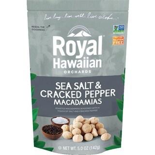 Royal Hawaiian Orchards - Sea Salt & Cracked Pepper Macadamia Nuts ( 6 - 5 oz bags)