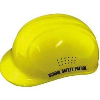 Yellow Crossing Guard Helmet w/ Label
