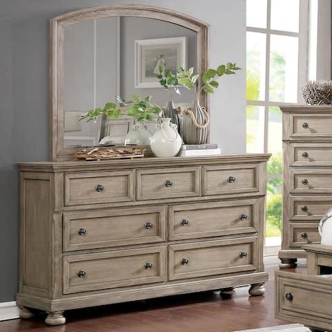 Carbon Loft Nahkohe Grey 2-piece Dresser and Mirror Set